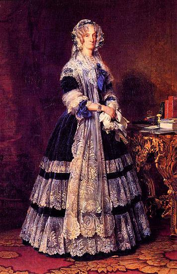 Franz Xaver Winterhalter Portrait of the Queen Marie Amelie of France