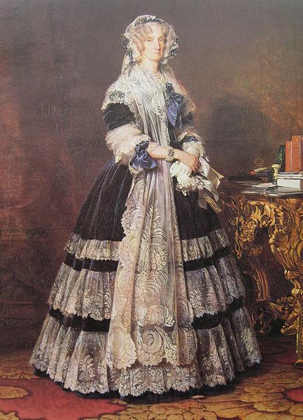 Franz Xaver Winterhalter Portrait of the Queen Marie Amelie of Bourbon-Two Sicilies, Queen of the French