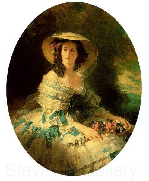 Franz Xaver Winterhalter Eugenie of Montijo, Empress of France