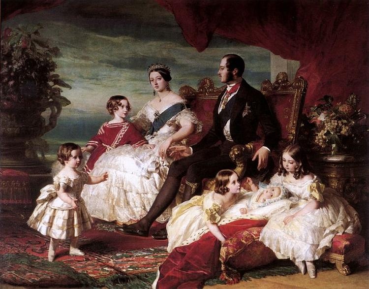 Franz Xaver Winterhalter Portrait of Queen Victoria, Prince Albert, and their children
