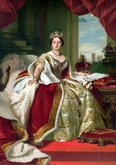 Franz Xaver Winterhalter Portrait of Queen Victoria