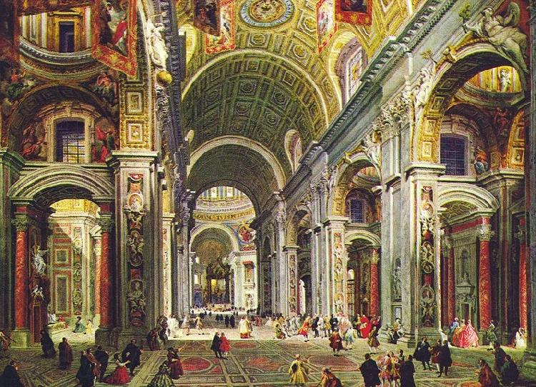 Giovanni Paolo Pannini Interior of St Peter s Rome