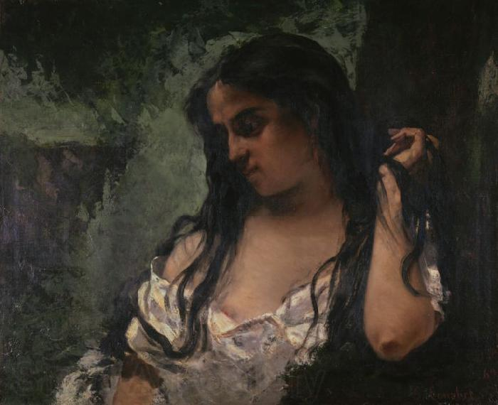 Gustave Courbet Gypsy in Reflection