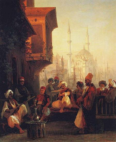 Ivan Aivazovsky Coffee-house by the Ortakoy Mosque in Constantinople