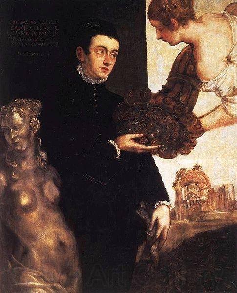 Jacopo Robusti Tintoretto Portrait of Ottavio Strada