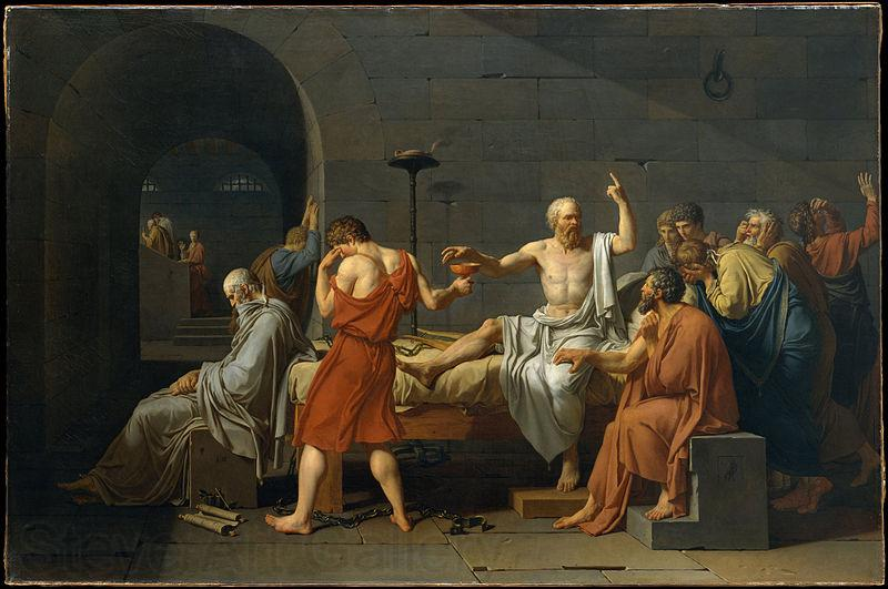 Jacques-Louis  David The Death of Socrates