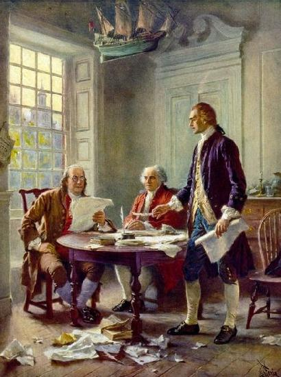 Jean Leon Gerome Ferris Writing the Declaration of Independence