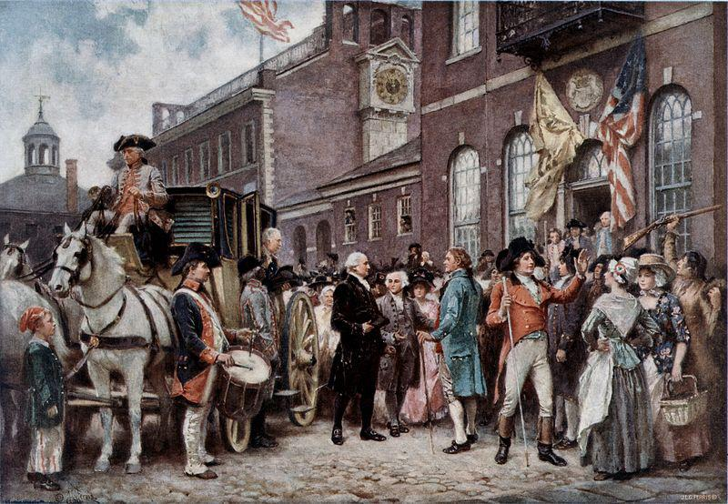Jean Leon Gerome Ferris Washington's Inaugration at Philadelphia