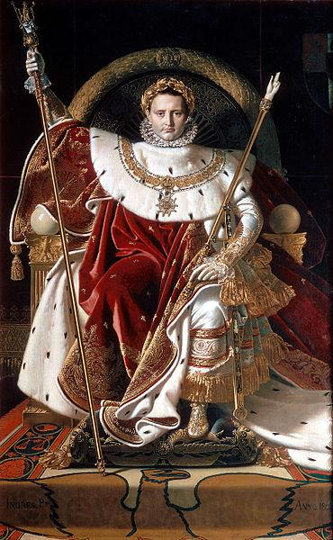 Jean-Auguste Dominique Ingres Napoleon on his Imperial throne