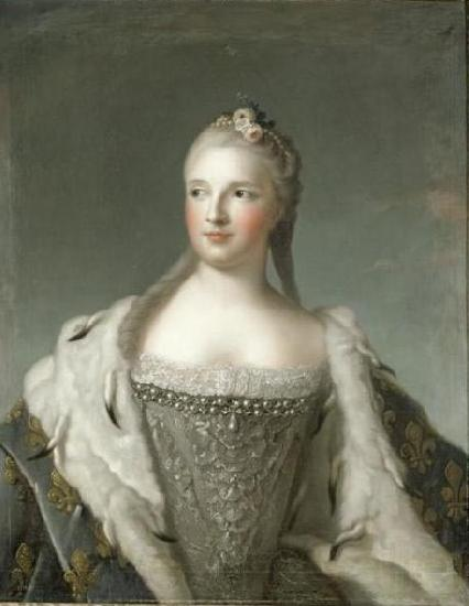 Jjean-Marc nattier Marie-Josephe of Saxony, Dauphine of France previously wrongly called Madame Henriette de France