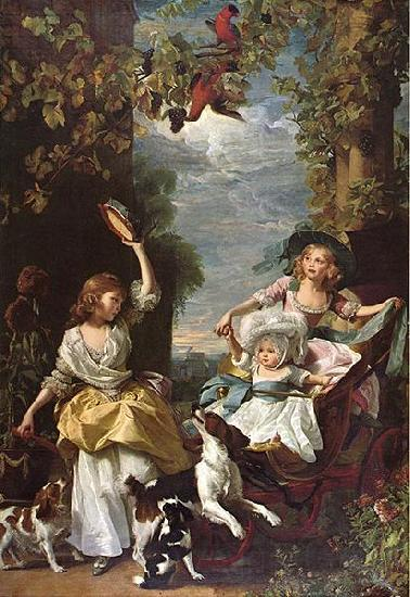 John Singleton Copley The Three Youngest Daughters of King George III