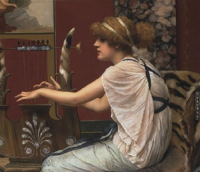 John William Godward Erato at Her Lyre