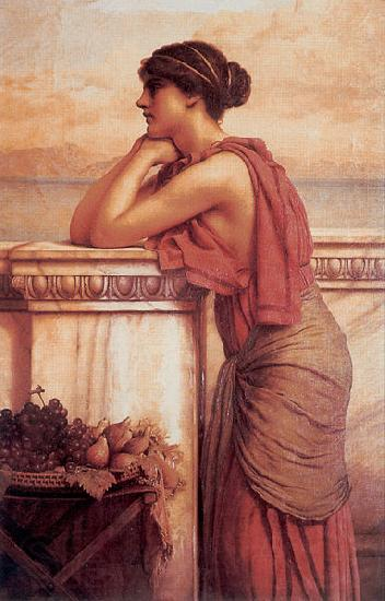John William Godward By the Wayside
