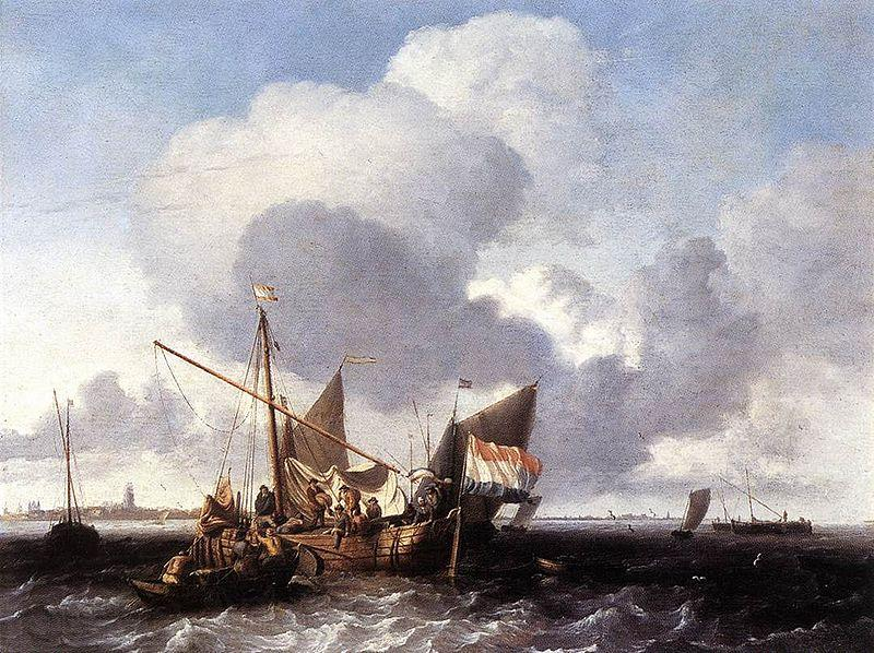 Ludolf Bakhuizen Ships on the Zuiderzee before the Fort of Naarden