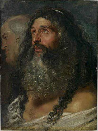 Peter Paul Rubens Study of Two Heads