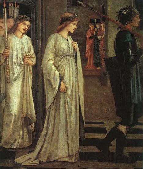 Sir Edward Burne-Jones The Princess Sabra Led to the Dragon Painting Date
