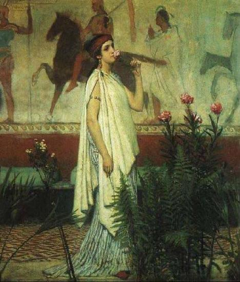 Sir Lawrence Alma-Tadema,OM.RA,RWS A Greek Woman Sir Lawrence Alma-Tadema