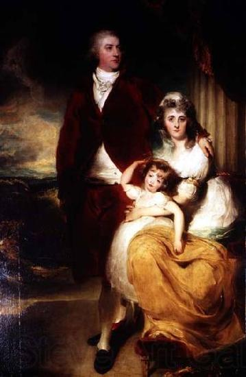 Sir Thomas Lawrence Portrait of Henry Cecil, 1st Marquess of Exeter (1754-1804) with his wife Sarah, and their daughter, Lady Sophia Cecil