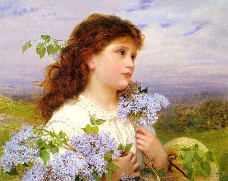 Sophie Gengembre Anderson The Time Of The Lilacs
