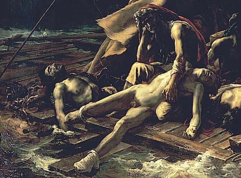 Theodore Gericault Detail from The Raft of the Medusa