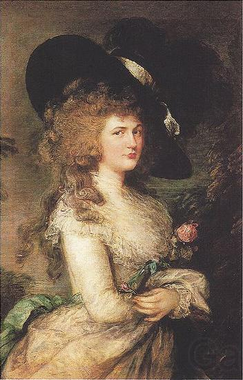 Thomas Gainsborough Portrait of Lady Georgiana Cavendish, Duchess of Devonshire