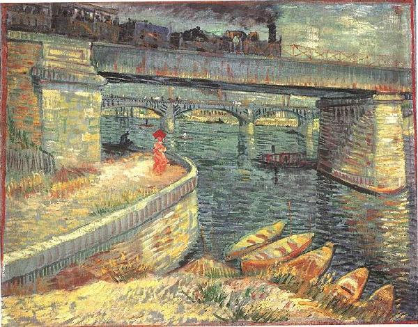 Vincent Van Gogh Bridges across the Seine at Asnieres