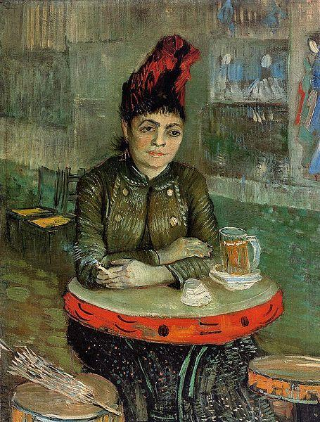 Vincent Van Gogh Agostina Segatori Sitting in the Cafe du Tamourin