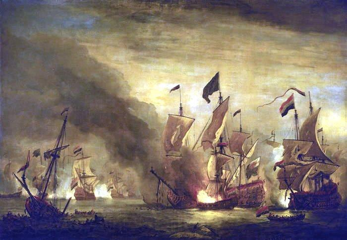 Willem Van de Velde The Younger Royal James  at the Battle of Solebay