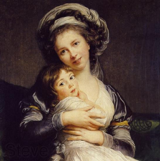 eisabeth Vige-Lebrun Turban with Her Child