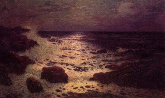 unknow artist Moonlight on the Sea and the Rocks