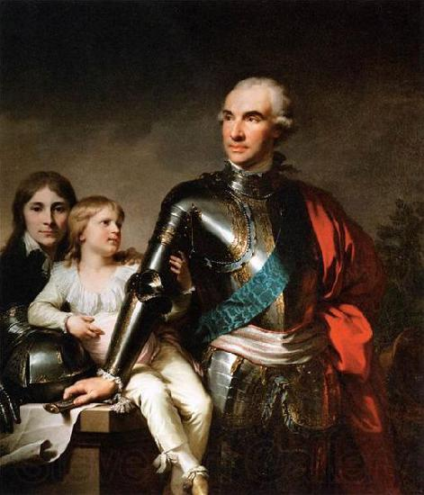 unknow artist The Count Potocki and his sons