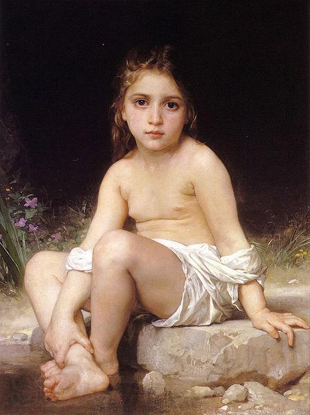Adolphe William Bouguereau Child at Bath