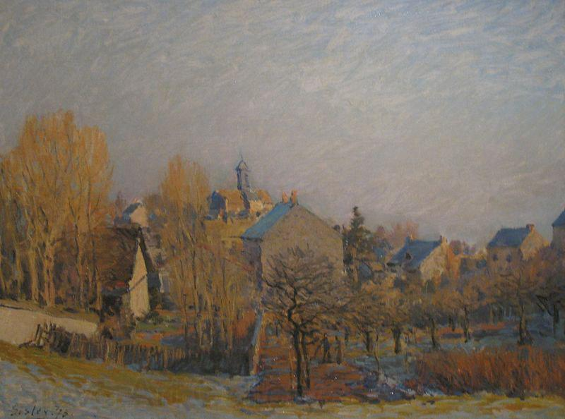 Alfred Sisley Frosty Morning in Louveciennes