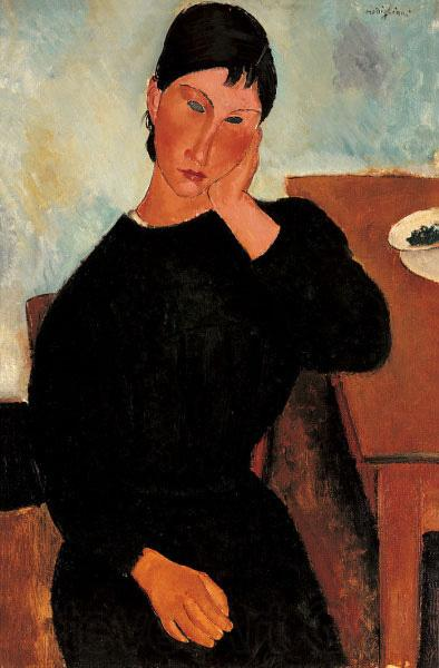 Amedeo Modigliani Elvira Resting at a Table
