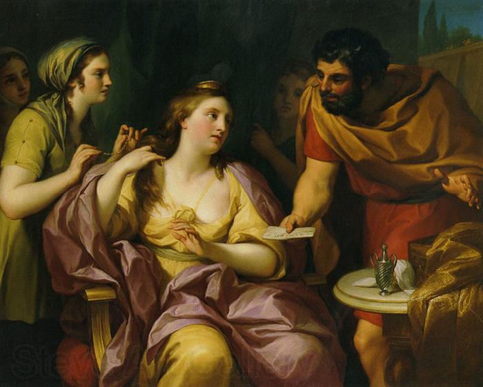 Anton Raphael Mengs Semiramis Receives News of the Babylonian Revolt by Anton Raphael Mengs. Now in the Neues Schloss, Bayreuth