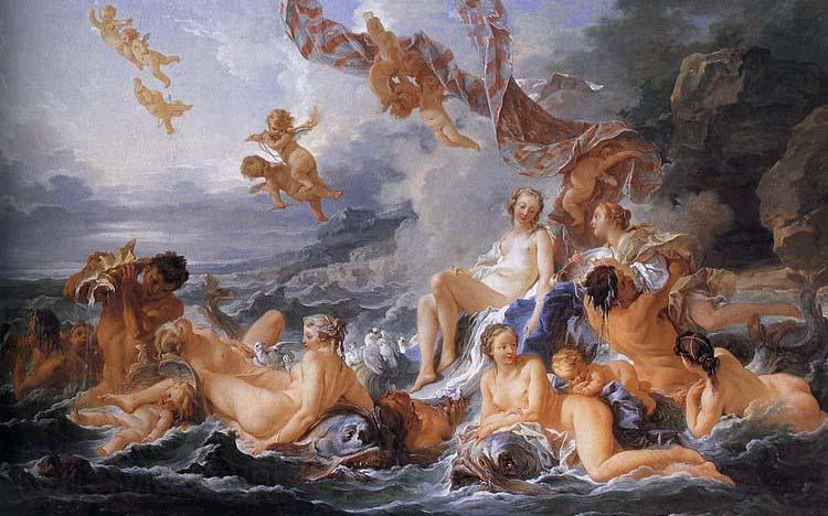 Francois Boucher The Triumph of Venus, also known as The Birth of Venus