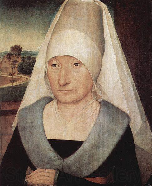 Hans Memling Portrait of an old woman.