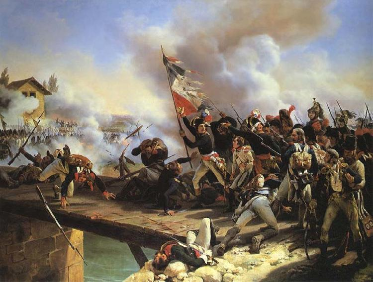 Horace Vernet Napoleon Bonaparte leading his troops over the bridge of Arcole
