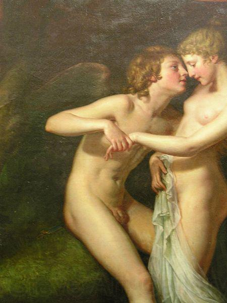 Hugh Douglas Hamilton Cupid and Psyche in the natural bower