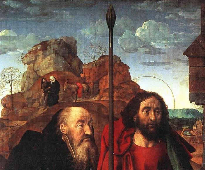 Hugo van der Goes Sts Anthony and Thomas with Tommaso Portinari