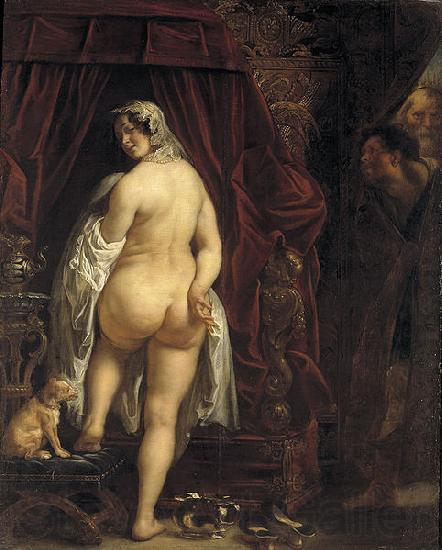 Jacob Jordaens King Candaules of Lydia Showing his Wife to Gyges
