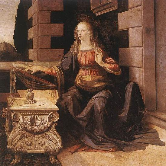 LEONARDO da Vinci The Annunciation