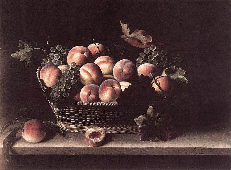 Louise Moillon Basket with Peaches and Grapes