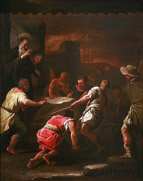 Luca Giordano A miracle by Saint Benedict