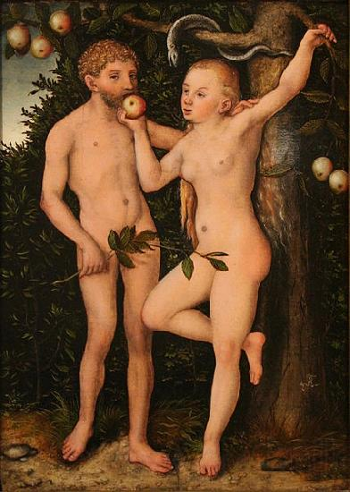 Lucas  Cranach Adam and Eve