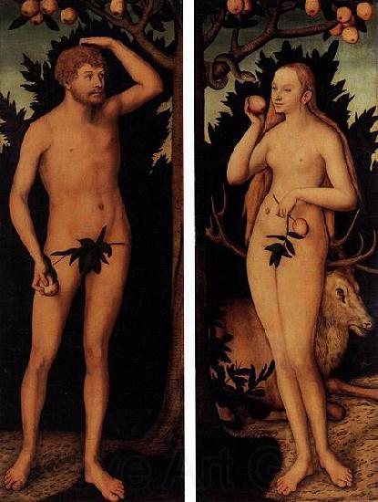 Lucas Cranach the Younger Adam and Eve