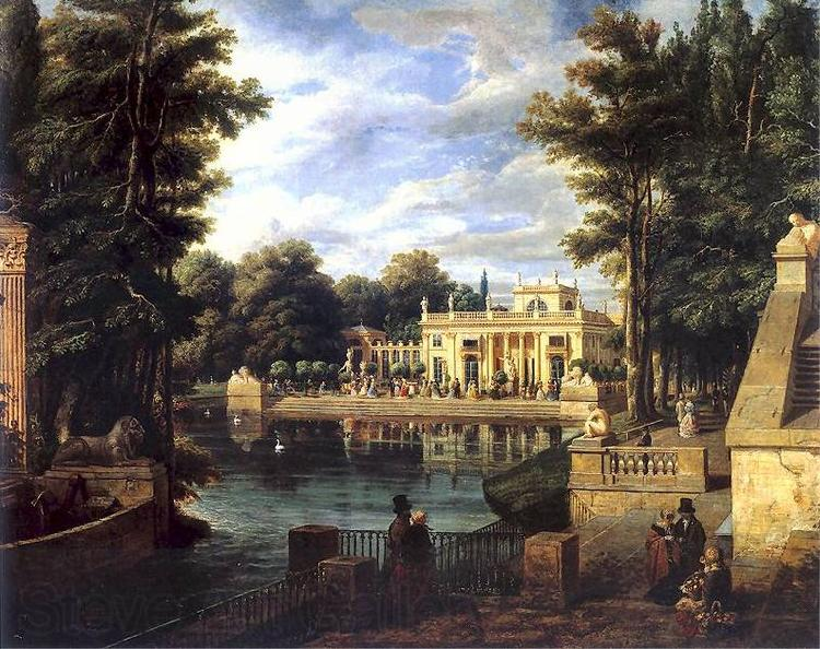 Marcin Zaleski View of the Royal Baths Palace in summer.