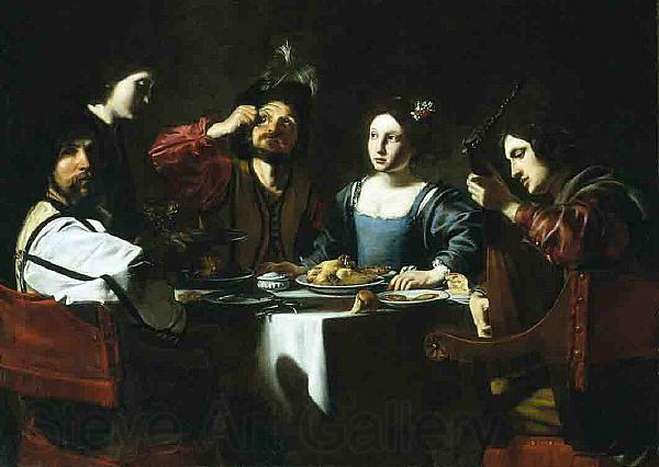 Nicolas Tournier Banquet Scene with a Lute Player