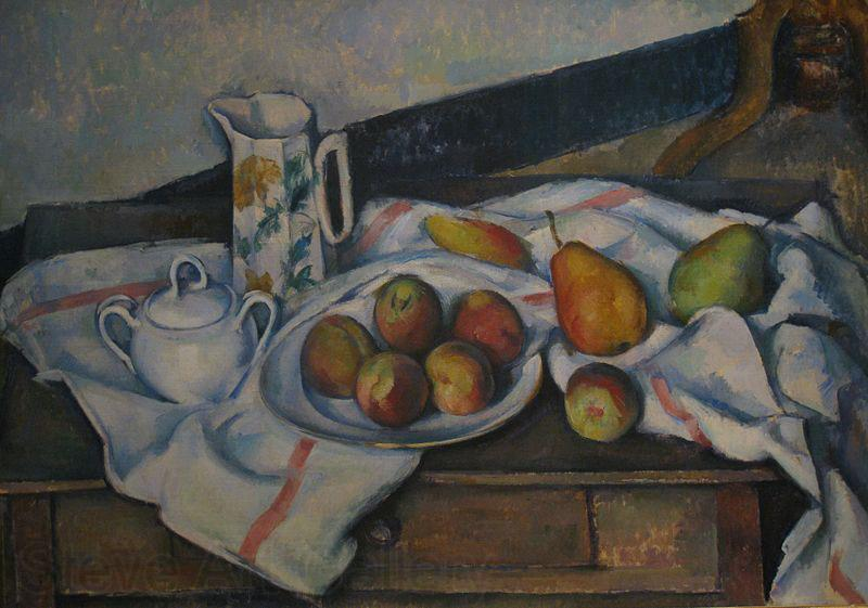 Paul Cezanne Peaches and Pears By Paul Cezanne