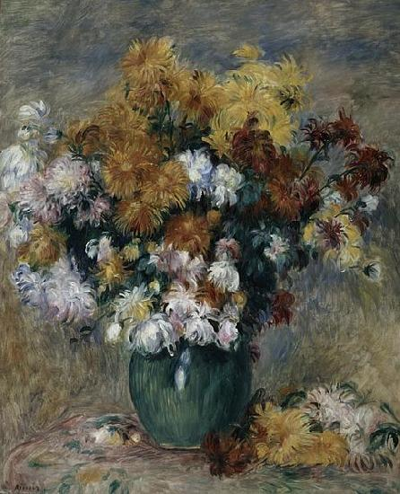 Pierre Auguste Renoir Bouquet of Chrysanthemums